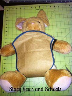 Sewing, tutorial, DIY, doll carrier, kids,