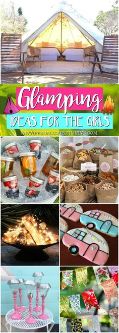 Ideas for the Ultimate Camping Trip for the Girls! Glamping: where stu. Glamping Ideas for the Ultimate Camping Trip for the Girls! Glamping: where stu.Glamping Ideas for the Ultimate Camping Trip for the Girls! Glamping: where stu. Backyard Camping Parties, Girl Camping Parties, Indoor Camping, Camping Glamping, Camping Theme, Camping Meals, Camping Hacks, Family Camping, Camping Supplies