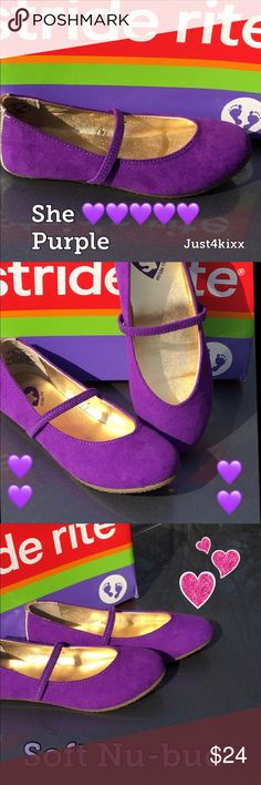 New Stride Rite Fashion Shoe for Girls Purple! Soft! Fits like Stride Rite should... she'll love them and so will you! 💜💜💜 Stride Rite Shoes Dress Shoes