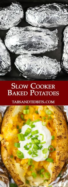 Slow Cooker Baked Potatoes are an inventive way to prepare the perfectly soft potato!