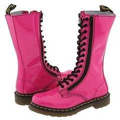 These exact pink & black beautiful boots - - - I must own them... I love them already <3