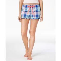 13335cc89a3c Jenni by Jennifer Moore Plaid Boxer Pajama Shorts, ($22) ❤ liked on Polyvore