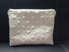 Simple Large Cosmetic Bag in White by CreativityUnraveled on Etsy