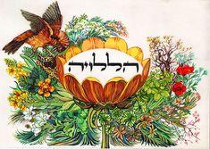 Jewish Hebrew Calligraphy Art Print Halleluyah Hebrew Halelu Judaica   eBay