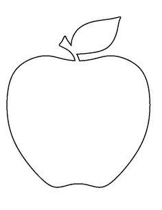 "apple template for ""fizzing apple art"" Applique Templates, Applique Patterns, Box Templates, Stencil Templates, Apple Activities, Craft Activities, Fall Preschool, Preschool Crafts, Apple Template"