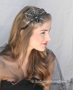Spider Halloween headband The Spiders Web by BeSomethingNew