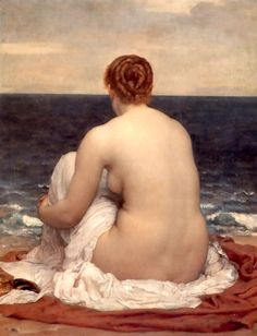 Frederic Leighton- Psamathe, Oil on canvas. .