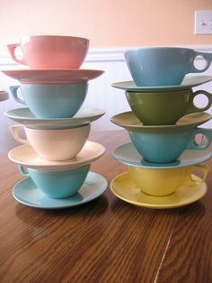 tea party - cups and saucers