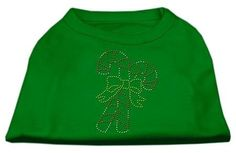 Mirage cat Products Candy Cane Rhinestone Shirt, X-Small, Emerald Green -- Additional details found at the image link  : Cat Apparel