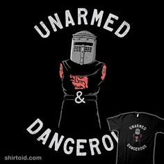 Armless But Not Harmless | Shirtoid #blackknight #film #montypython #montypythonandtheholygrail #movies #shadyjibes #triagusnuradhim