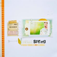 #papercraft #Scrapbook #layout.  Hello spring! by mariatsil at @studio_calico