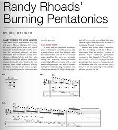 Randy Rhoads' Burning Pentatonics Lesson | GP Vault | GuitarPlayer