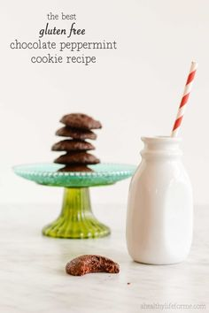 Gluten Free Chocolate Peppermint Cookies are moist full of chocolate and peppermint flavor + they are gluten free, grain free, soy free and paleo friendly - A Healthy Life For Me
