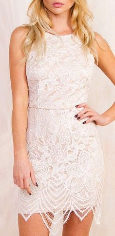 Belle Dress Love the crochet overlay and the way it fits