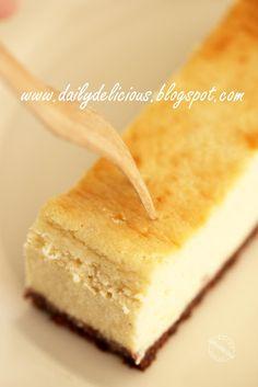 dailydelicious: Banana Cheese cake: Lovely sweet fragrance cheese cake.