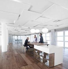 Ecophon Solo, vrijhangende akoestische plafondpanelen voor geluidsabsorptie