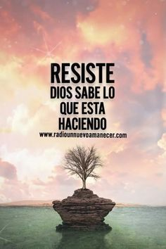 Resist God knows what he is doing - Modern Spanish Inspirational Quotes, Spanish Quotes, Biblical Verses, Bible Verses, Music Quotes, Bible Quotes, Quotes Fighting, Quotes About God, Love Quotes