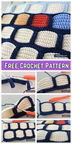 Crochet Brick Stitch Blanket Free Häkelanleitung - You are in the right place about crochet hat Here we offer you the most beautiful pictures about the c Crochet Afghans, Crochet Pillow, Crochet Blanket Patterns, Baby Knitting Patterns, Baby Blanket Crochet, Knitting Patterns Free, Crochet Stitches, Stitch Patterns, Crochet Hats