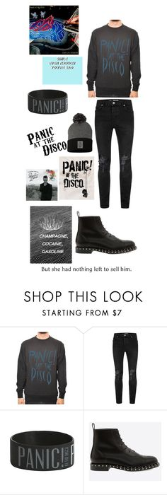 """""""Panic!"""" by maxx-the-trans-guy ❤ liked on Polyvore featuring Topman, Hot Topic, men's fashion and menswear"""