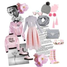Dáma v růžové Lady in pink - styling - romantická růžová v kombinaci s šedou. Eddie Borgo, Polyvore Fashion, Pink Ladies, Collections, Alice Olivia, John Lewis, Valentino, Mango, Forever 21