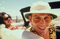 Raoul Duke (Johnny Depp) in Fear and Loathing in Las Vegas Aston Martin Sports Car, Ving Rhames, Vegas Tattoo, Jean Luc Godard, Fear And Loathing, The Big Lebowski, Famous Stars, Grace Kelly, Johnny Depp