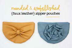 zipper pouch tutorial #sewing