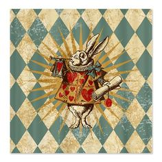 CafePress Alice White Rabbit Vintage Shower Curtain  Standard White * Check out the image by visiting the link.