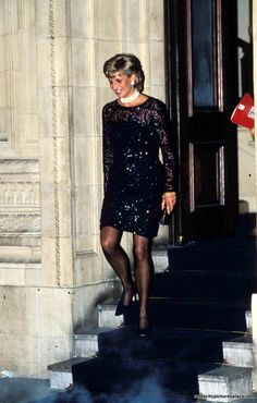 """February 1, 1996: Princess Diana at the performance of """"La Boheme"""" opera in aid of the British Lung Foundation at Royal Albert Hall in London. Photo by: Dave Chancellor"""