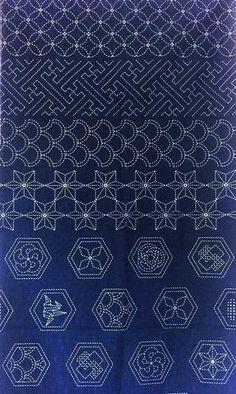 Black Joyful Koi /& Japanese Motifs Sashiko Pre-printed Panel Japanese Sewing Quilting  Fabric