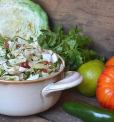 Chunky Cabbage Salsa -  This refreshing salsa is one of our favorite ways to eat cabbage. The lime juice softens the cabbage, while still maintaining that delightful cabbage crunch. We like eating this on chips, but it's also fantastic topped on tacos.
