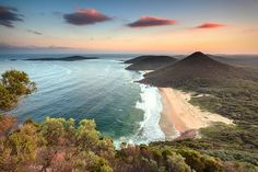 Mount Tomaree lookout, Port Stephens, New South Wales, Australia.