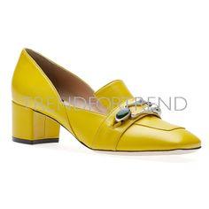 O JOUR | Spring/Summer 2017 | Shoes #mocassin #acid #lemon Work Heels, Color Pop, Colour, Shoes 2017, Sunnies, Heeled Mules, Charcoal, Sunshine, Lemon