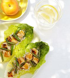 Orange & Apricot Glazed Chicken Lettuce Cups