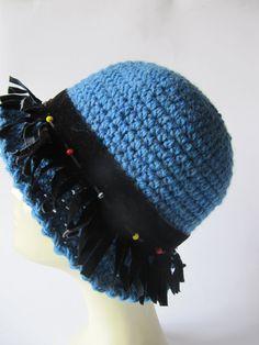 Ocean blue dream hat crochet hat for women. by SEVILSBAZAAR, $25.00