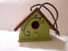 Hanging mini birdhouse by allycally on Etsy, $10.00