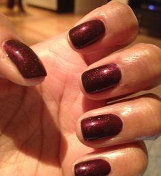 CND Shellac manicure in Dark Lava