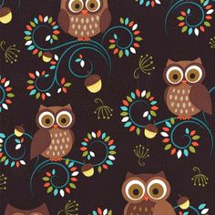 Inspired Crafters, Craft Supplies, Quilting Fabric, Courtenay, British Columbia, BC, Canada, Norwegian Woods Happy Hooters by Michael Miller - Inspired Crafters, Owls