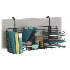 Safco Compact Grid Works Desk Organizer is perfect for a home office! Cubicle Shelves, Cubicle Walls, Work Cubicle, Cubicle Ideas, Cubicle Storage, Home Office, Small Office, Office Cube, Office Spaces