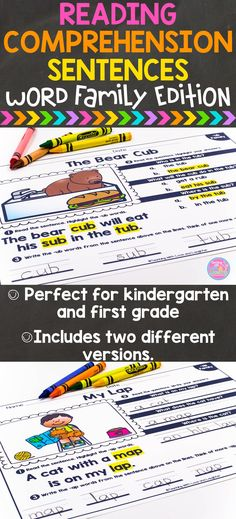 Students read each sentence and highlight the words from the word family. Then…