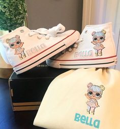 7c059a2a15cb Personalized inspired LOL Suprise Dolls Converse - Bon Bon customized  chucks and shoes - lol dolls - Birthday outfit - Birthday girl gift