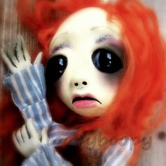 Arresting expression - this OOAK doll maker's work definitely gives you visual food for thought. Philomena by loopyboopy on Etsy