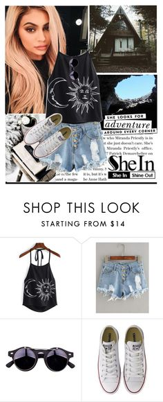 """she looks for adventure around every corner"" by gabygirafe ❤ liked on Polyvore featuring Arco, Justin Bieber, Kate Spade and Converse"