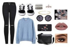 """""""Typical teenagers"""" by theater-potter-dance-warriors ❤ liked on Polyvore featuring Elizabeth and James, 2LUV, The Row, Charlotte Russe and Tatti Lashes"""