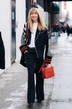 estilo de la calle de Nueva York Semana de la moda autome hiver 2017 2018 72