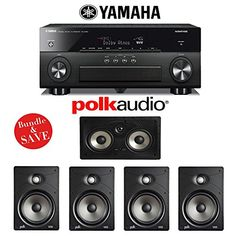 Yamaha AVENTAGE RXA860BL 72 Channel Network AV Receiver Polk Audio V85 50 High Performance InWall Home Speaker System -- You can find out more details at the link of the image.Note:It is affiliate link to Amazon.