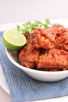 Spicy buffalo chicken wings....Ever since my family and I went on a veggie diet, I've been craving these since day one!