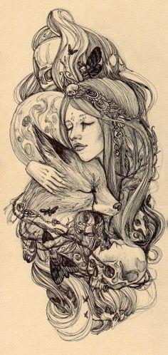 Encarar o poder selvagem em nós mesmas é ganhar acesso aos inúmeros rostos do feminino oculto. Eles nos pertencem de modo inato e podemos optar por incorporar os que nos forem mais convenientes a qualquer momento.