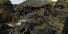 Discover the finest artists from animation, games, illustration and comics. Halo 2, Fantasy Art Landscapes, Fantasy Paintings, Craig Mullins, Cg Artist, Game Concept Art, Character Design Animation, World Photography, Environment Design