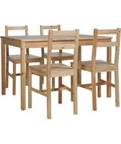 Buy Raye Wooden Dining Table And 4 Natural Chairs At Argoscouk