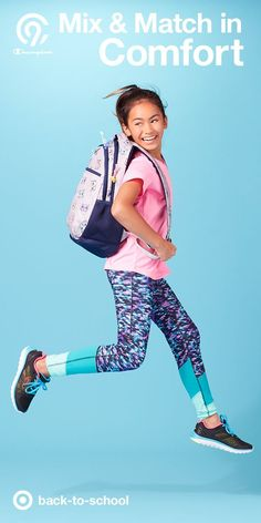 Step up your back-to-school style with clothing that kids can truly move in. All you really need to get going is a C9 V-neck tee, leggings and some sneakers—sold exclusively at Target. Because learning takes hustle! And C9 delivers all day long.